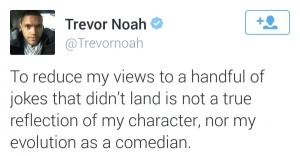 trevor noah apology tweet